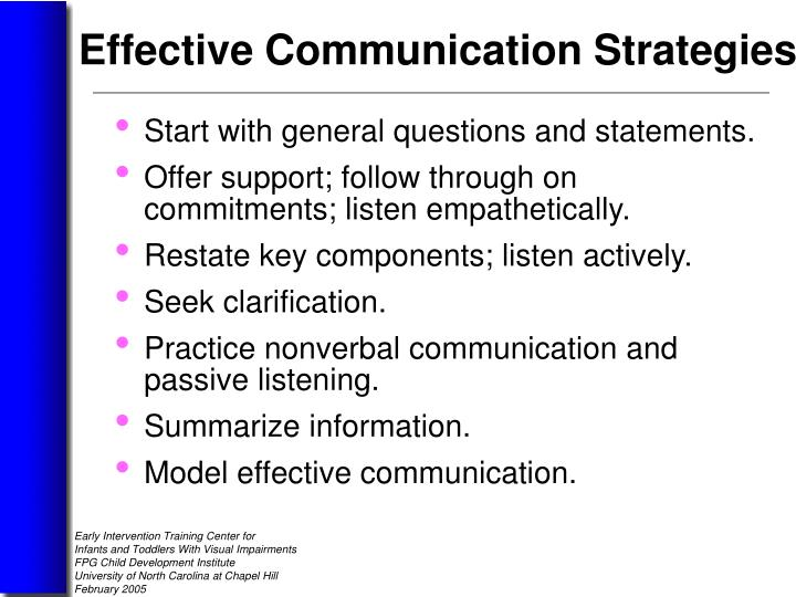 Start with general questions and statements.