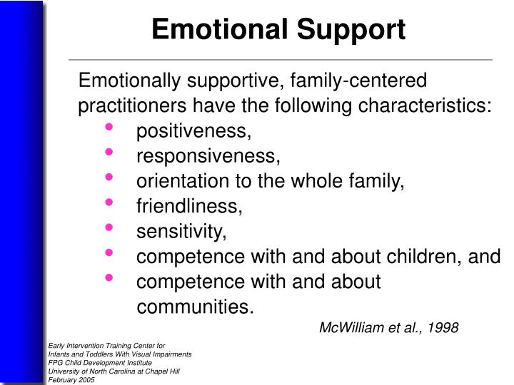 Emotionally supportive, family-centered