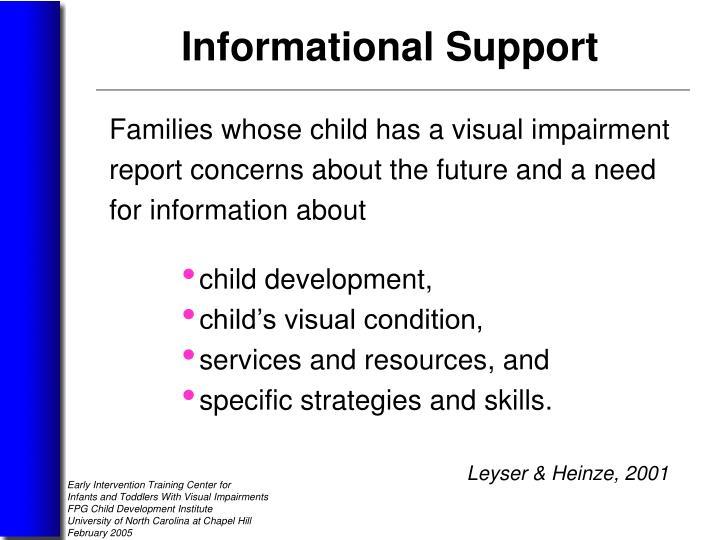 Families whose child has a visual impairment