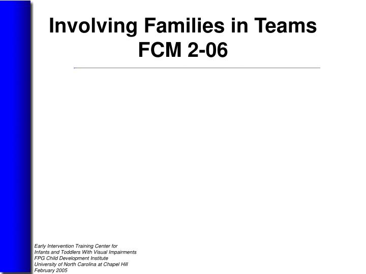 Involving Families in Teams