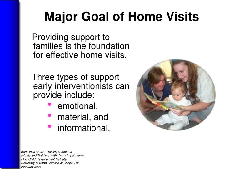 Providing support to families is the foundation for effective home visits.
