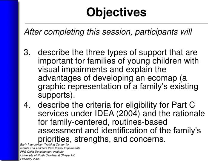 After completing this session, participants will