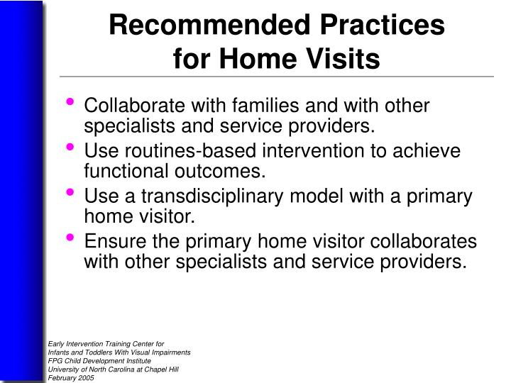 Collaborate with families and with other specialists and service providers.