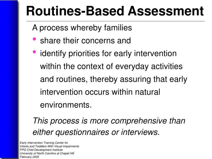 A process whereby families