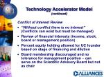 technology accelerator model continued