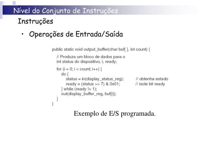 Nível do Conjunto de Instruções