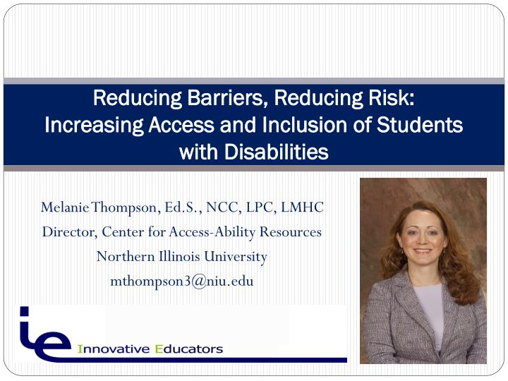 """overcoming barriers to inclusion for physically disabled """"inclusion education as solution to barriers of  with identifying and overcoming all barriers  barriers to inclusion regarding disabled children some."""