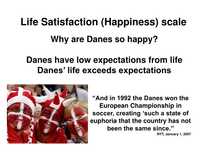 Life Satisfaction (Happiness) scale