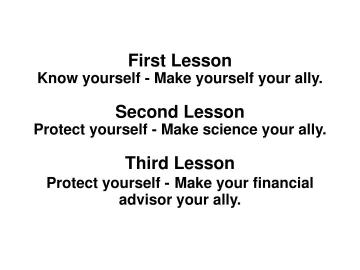 First Lesson