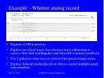 example whittier analog record