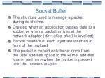socket buffer