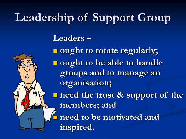 Leadership of Support Group