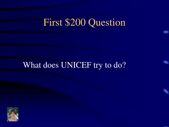 First $200 Question