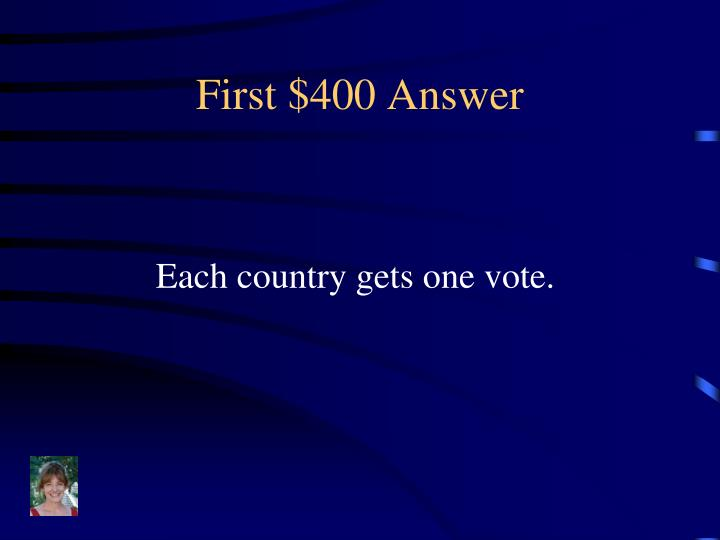 First $400 Answer