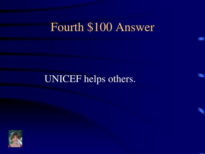 Fourth $100 Answer