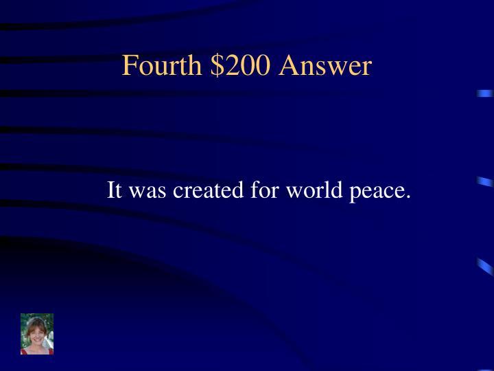 Fourth $200 Answer