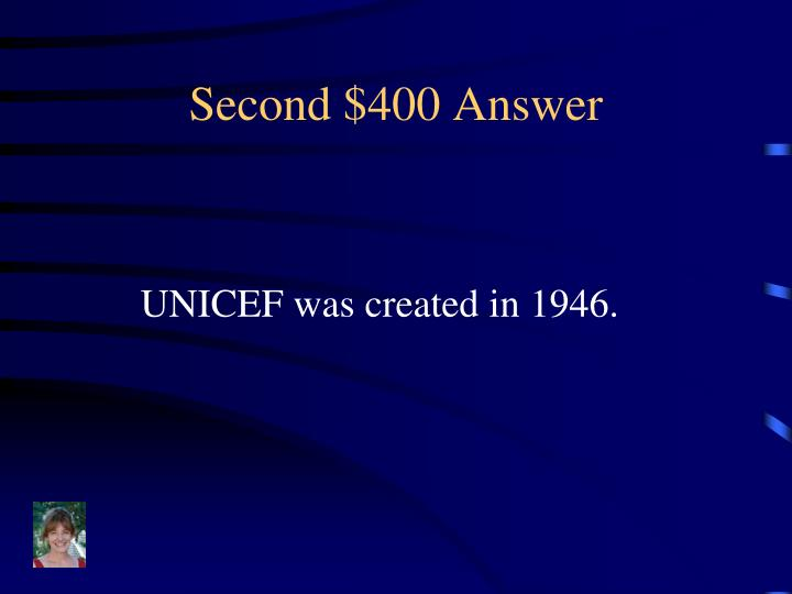 Second $400 Answer