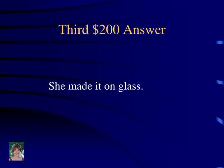 Third $200 Answer