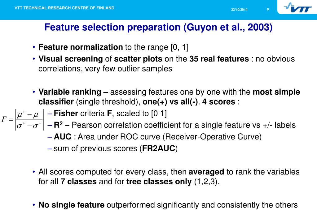 PPT - Feature Selection for Tree Species Identification in