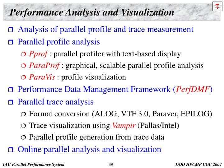 Performance Analysis and Visualization
