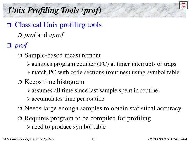 Unix Profiling Tools (prof)