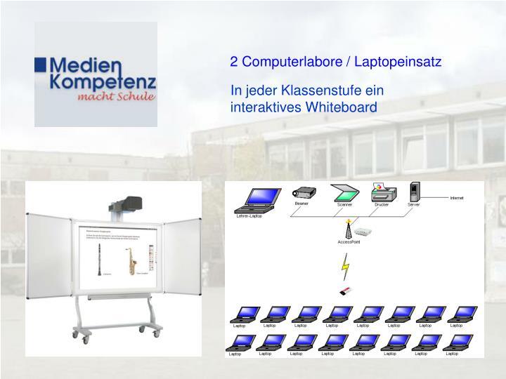 2 Computerlabore / Laptopeinsatz