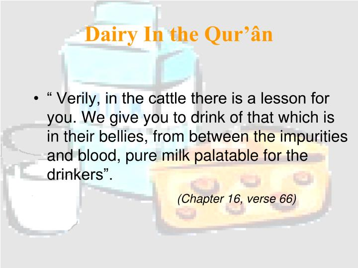 Dairy In the Qur'ân