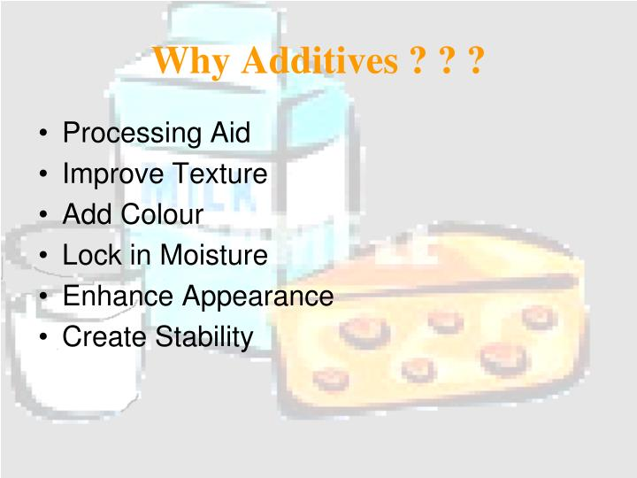 Why Additives ? ? ?