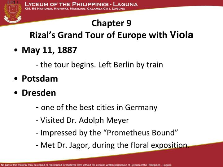 chapter 9 rizal s grand tour of europe with viola n.