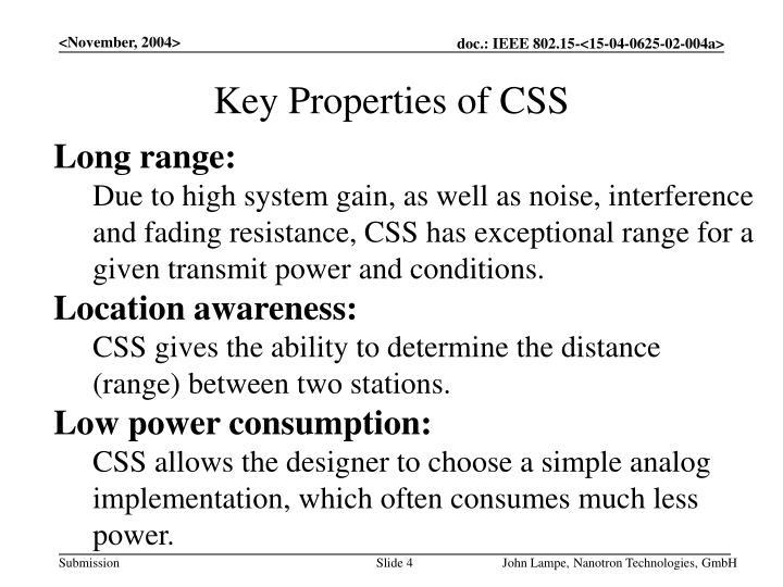 Key Properties of CSS