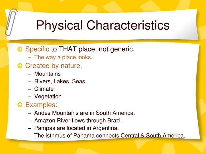 Physical Characteristics