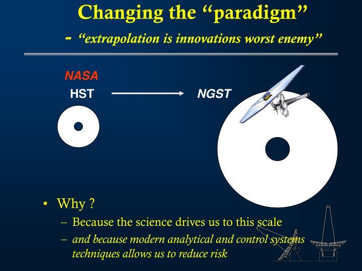 "Changing the ""paradigm"""