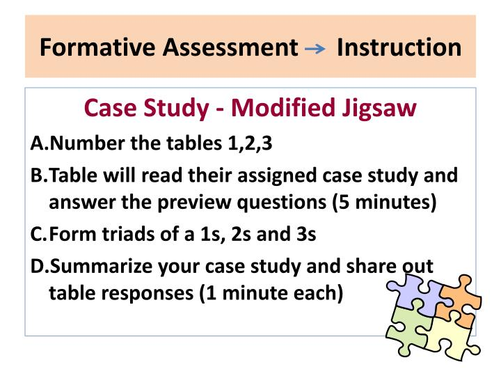 Formative Assessment      Instruction