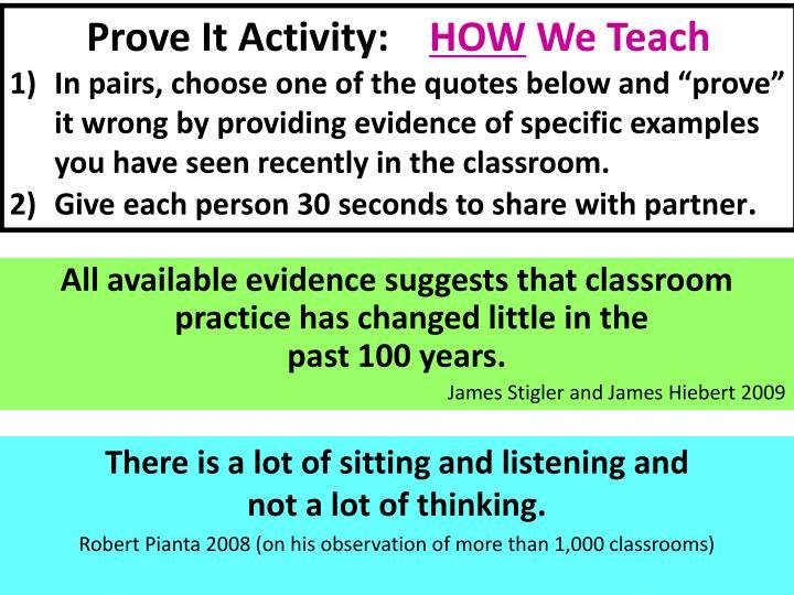 Prove It Activity: