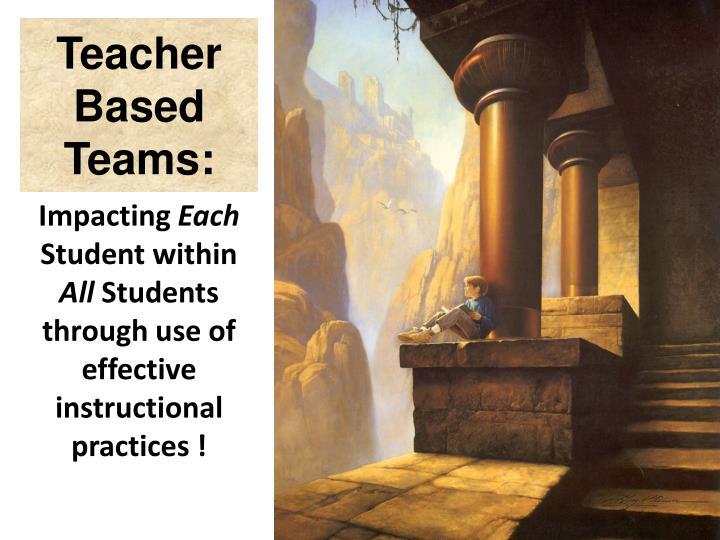 Teacher Based Teams:
