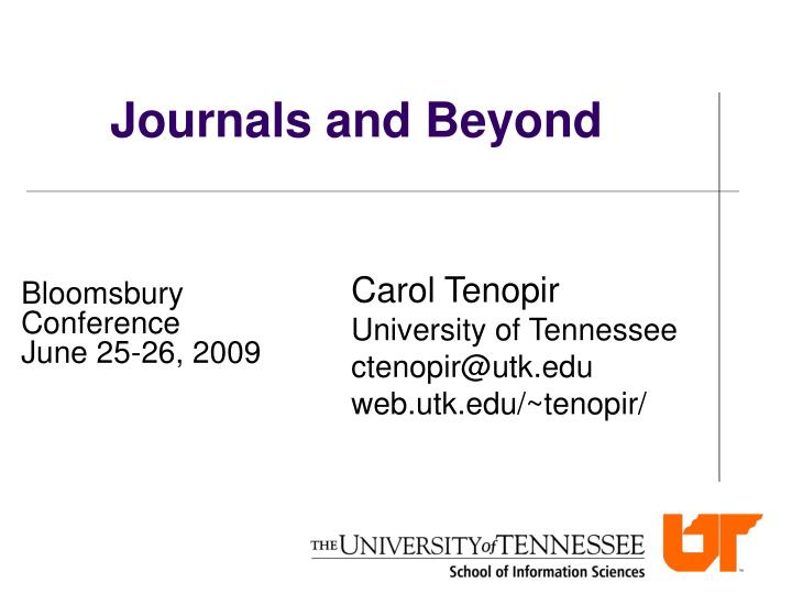 journals and beyond n.