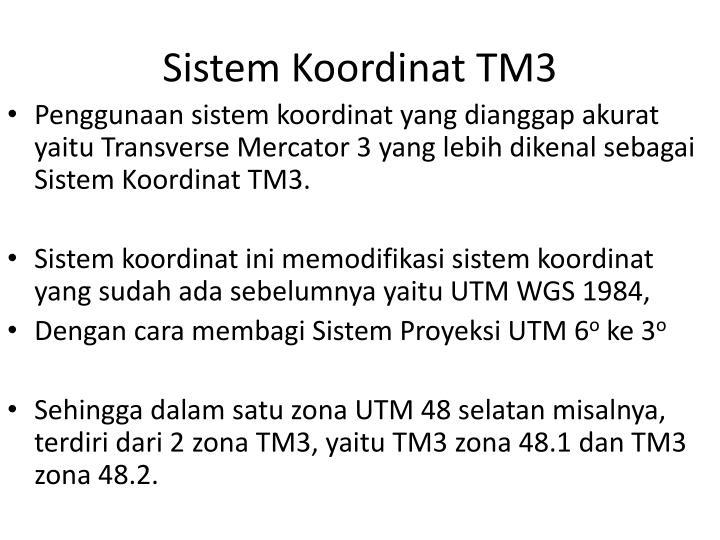 Sistem Koordinat TM3