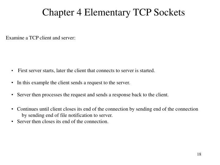 Chapter 4 Elementary TCP Sockets