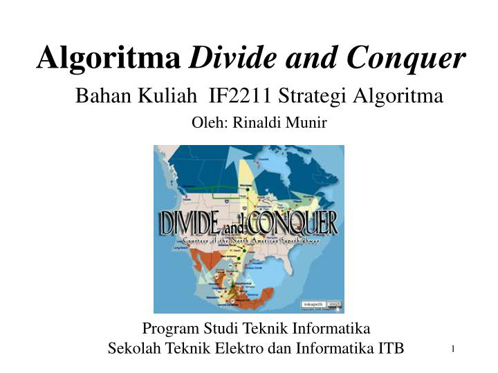 algoritma divide and conquer n.