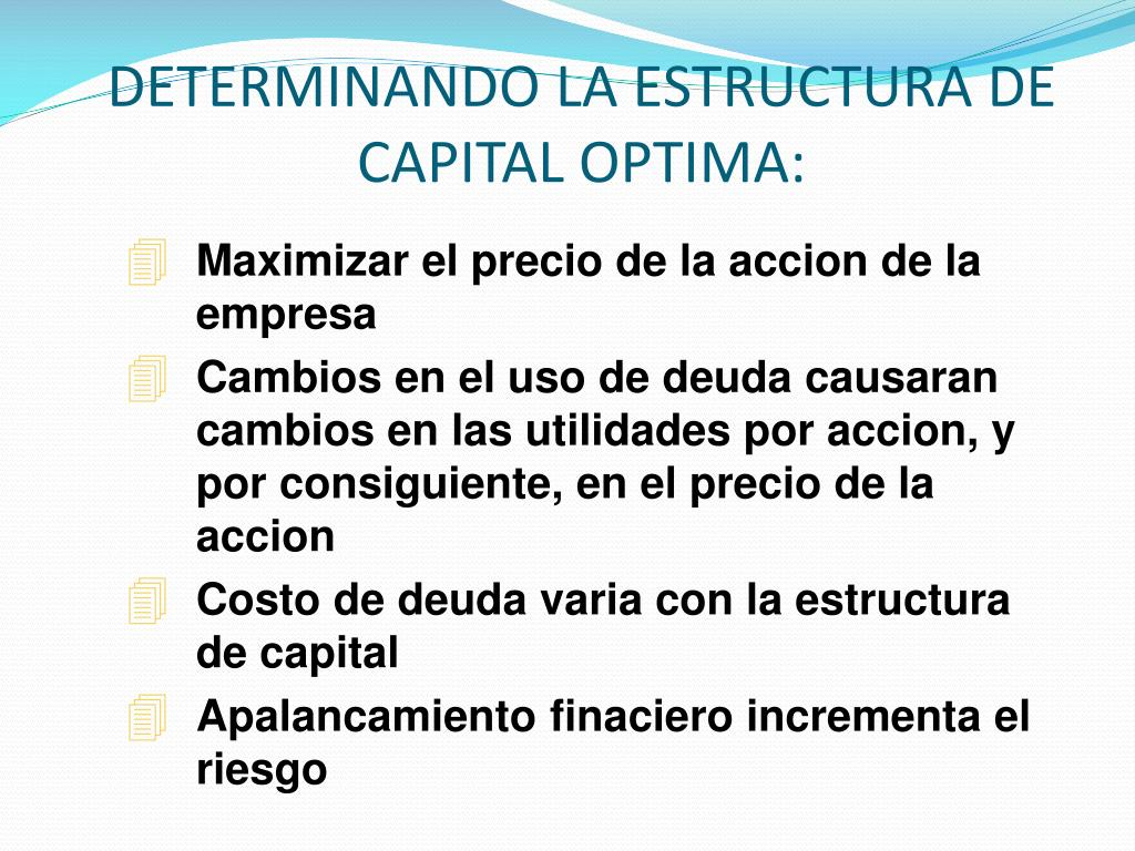 Ppt Estructura De Capital Y Riesgo Del Negocio Powerpoint