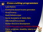 cross cutting programmes