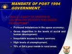 mandate of post 1994 government