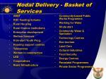 nodal delivery basket of services