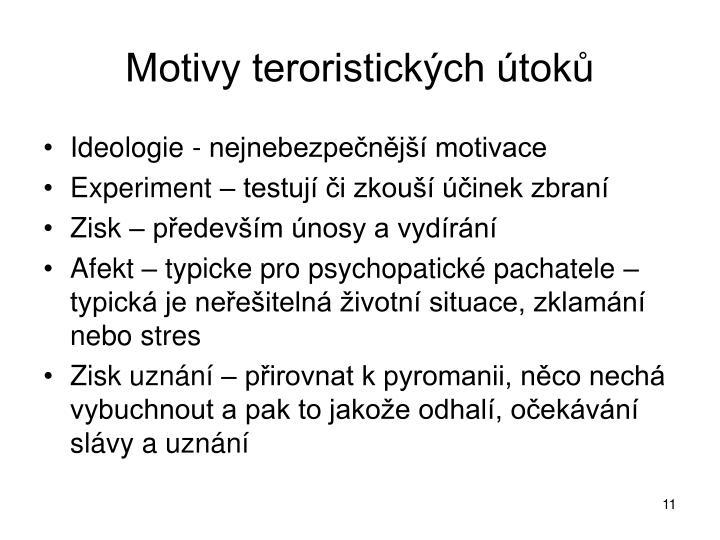 Motivy teroristických útoků