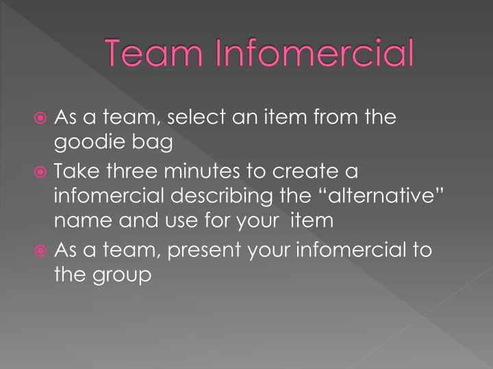Team Infomercial
