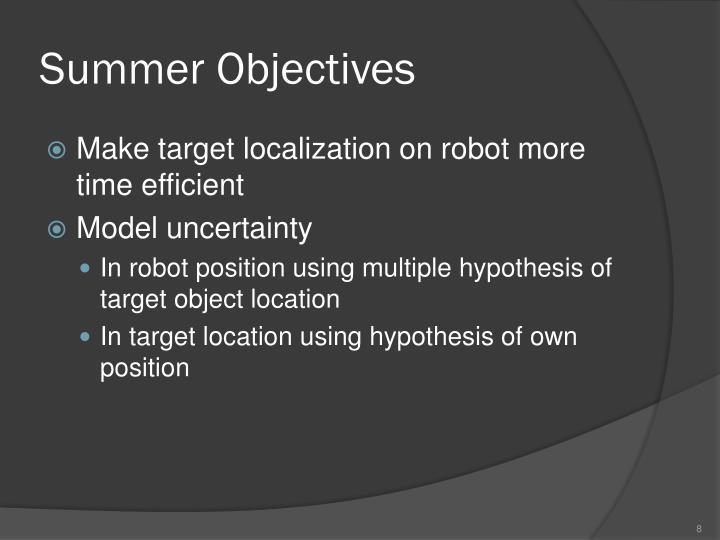 Summer Objectives