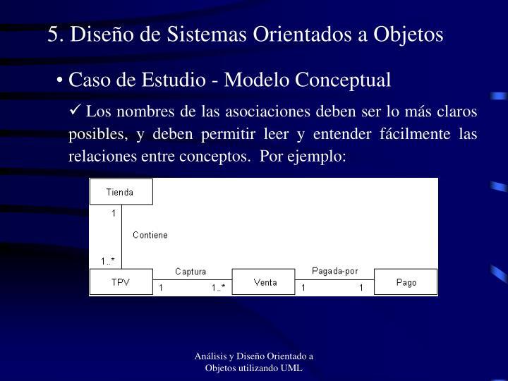 5. Diseño de Sistemas Orientados a Objetos