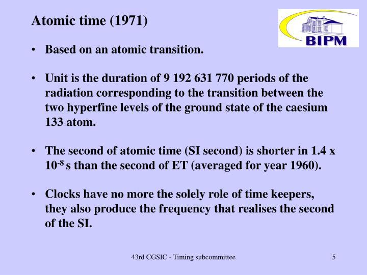 Atomic time (1971)