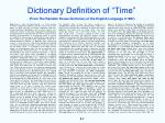 dictionary definition of time