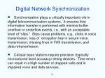 digital network synchronization